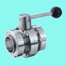 Butterfly Valve With Unions End