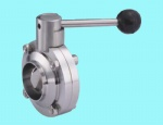 Weld Manual Butterfly Valve Pull Handle